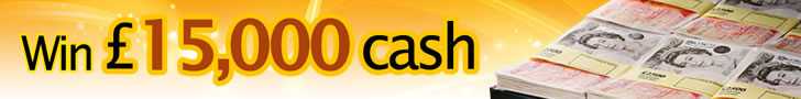 Chance to win £15,000 in cash